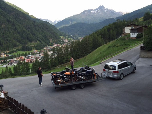 Motorradtransport nach Sölden