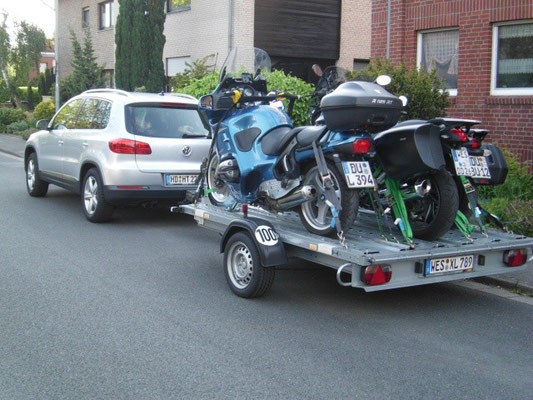 3 BMW Motorradtransport