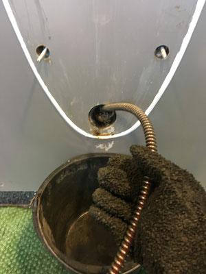Reinigung einer Urinalleitung