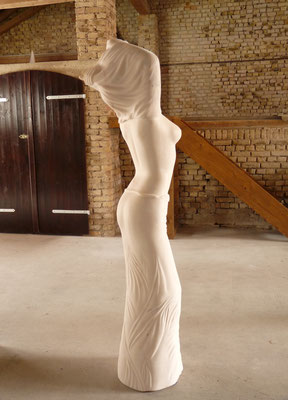 Ohne Titel I, 2012, Marmor Estremoz Creme, 180 x 55 x 40 cm