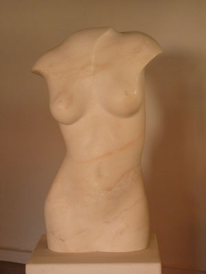 Torso, 2011, Marble Estremoz Creme, 71 x 40 x 44 cm