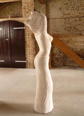 Without Titel I, 2012, Marble Estremoz Creme, 180 x 55 x 40 cm