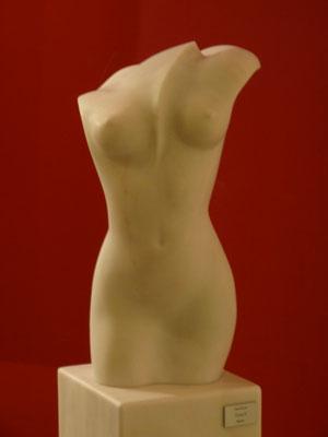Torso II, 2012, Marble Estremoz Creme, 147 x 39 x 36 cm