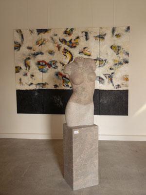 Torso, 2009, Marmor Brecha, 144 x 40 x 30 cm