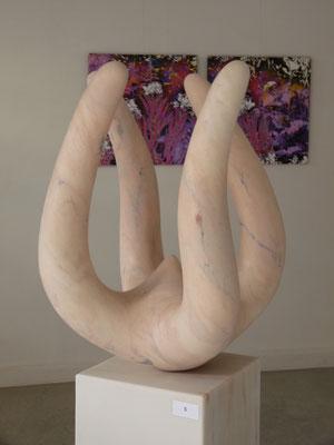 4 Elementos, 2014, Mármore Estremoz Rosa Venado, 155 x 48 x 47 cm