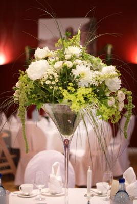 Hochzeitsdeko, Hochzeitsräume, Tischdekoration, Hochzeitsfloristik, Petite Fleur