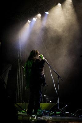 Rareș Totu (voce, chitară la Midnight Sun) - in concert la Open Air Blues Festival Brezoi, Valcea editia 2017