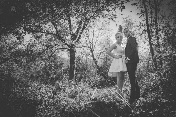 Fotografie de nunta in padure toamna