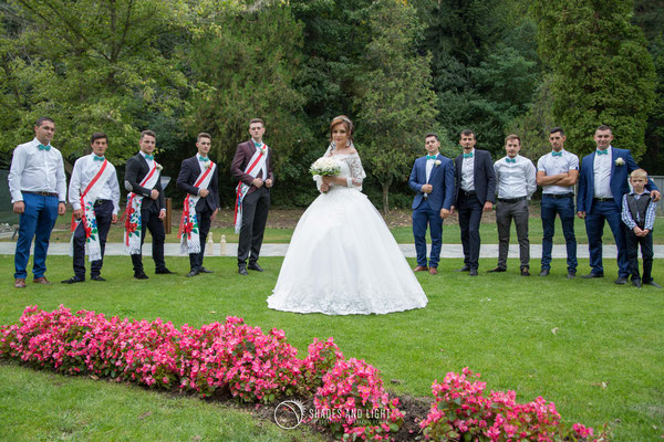 Fotografie de nunta in parc - grup
