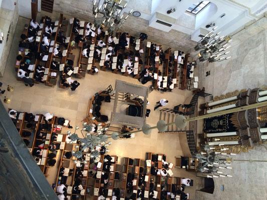 Blick in die Hurva Synagoge von oben