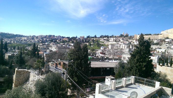 Blick über die City of David