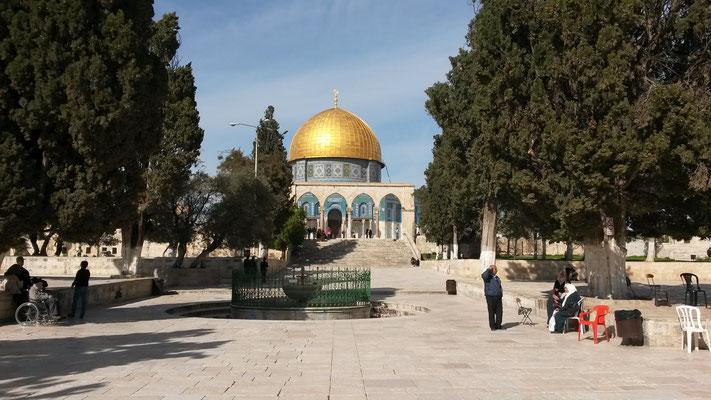 Blick auf den Felsendom - hier stand der Tempel Israels
