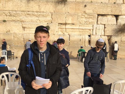 Besuch an der Western-Wall