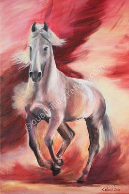 temperamentvolles Pferd in Acryl