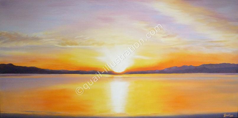 Sonnenuntergang - Urlaubserinnerung in Öl
