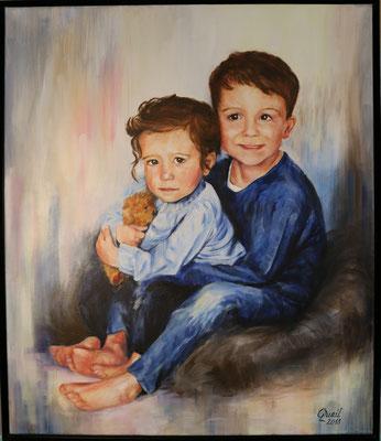 Auftrag: Portrait in Acryl auf Leinwand 60x70 cm