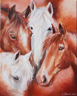 Pferde in Acryl