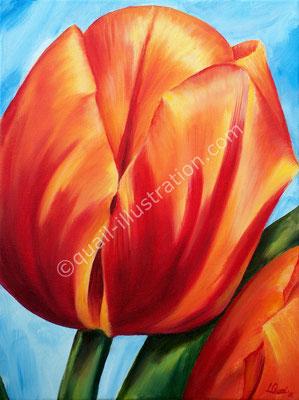 Tulpe in Öl