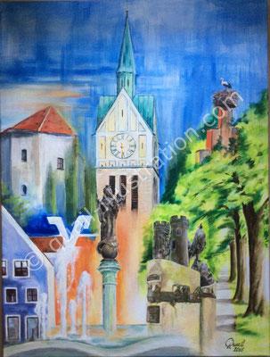 Neustadt a. d. Donau Collage - Auftrag der Raiffeisenbank Neustadt