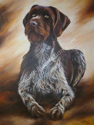 Jagdhund in Acryl