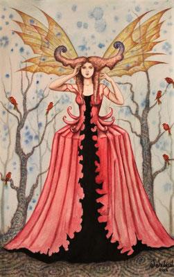 """Encantamiento"" (Verzauberung) watercolor on paper, 29,5cm x 20cm, 2016, Private collection"