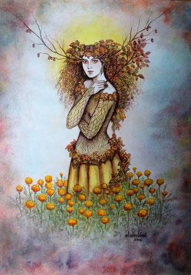 """Brisa de otoño""(Herbstbrise) watercolor on paper, 40cm x 30cm, 2016, Private collection"