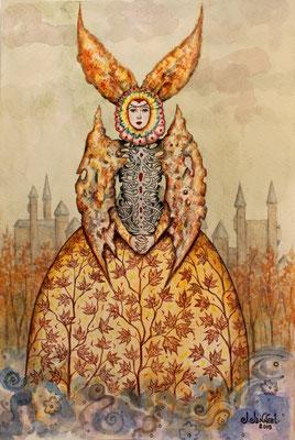 """Espíritu de otoño"" (Herbstgeist) watercolor on paper, 29,5cm x 20cm, 2015"