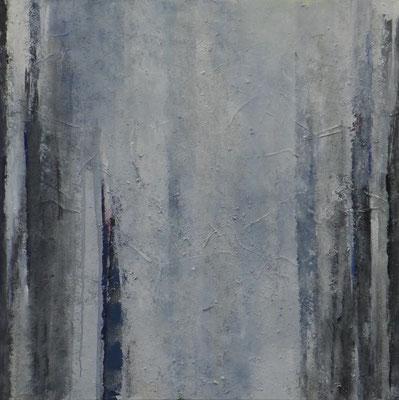 Nebelstämme / 100 x 120cm / Mischtechnik / 2019
