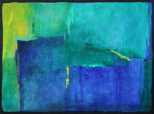 Sommerfrische / 114 x 152 cm / Acryl auf Gips/ Filz / 2020