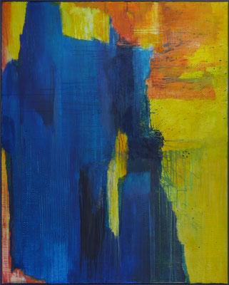 Blau will nicht Grün werden / Acryl auf Textil / 120 x 150cm / 2019