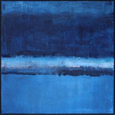 Blaue Kraft / 120 x 120cm / Mischtechik / 2021