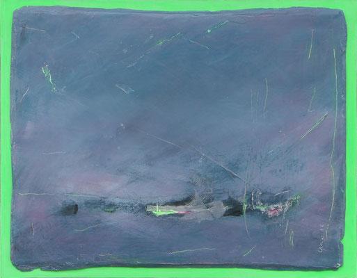 Seenot / Acryl auf Gips, Filz / 37 x 47cm / 2016
