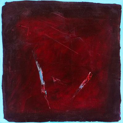 Ikarus / Acryl auf Gips, Filz / 60 x 60cm / 2016