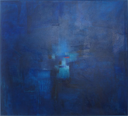 Denkendes Blau / Mischtechnik / 180 x 200cm / 2018