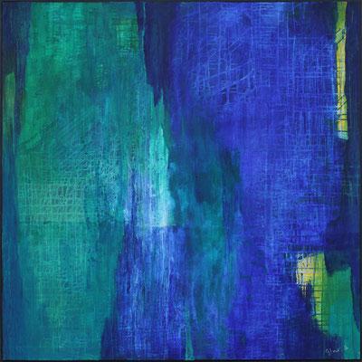 Lichtblicke / 120 x 120 cm / Acryl auf Textil  / 2020