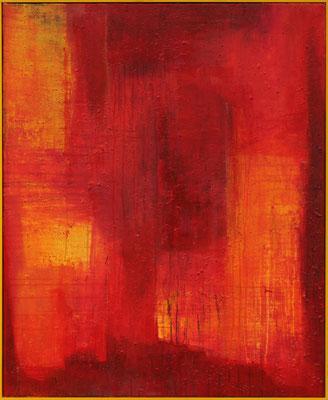 Roter Baum / 90 x 110 cm  / Mischtechnik / 2020