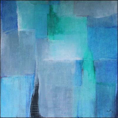 Schönes Blau / 200 x 200cm / Acryl auf Leinen / 2020