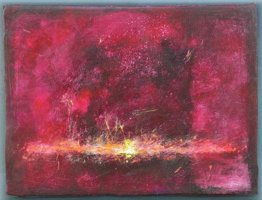 Wild Horses / Acryl auf Gips/Filz / 80 x 105cm / 2016