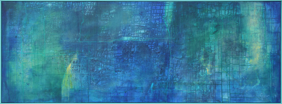 Versteggis / 61 x 167 cm / Acryl auf Textil / 2020