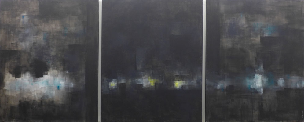 flüchtiger Blick / 3 ( 90 x 110cm) / Acryl auf Textil / 2018