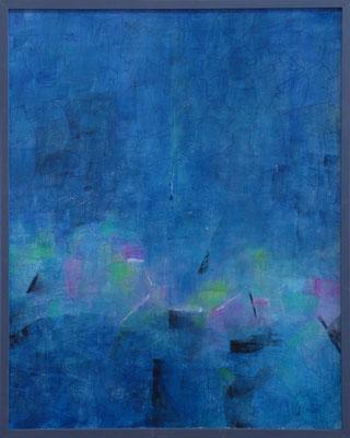 Kleines Blaues / Acry auf Karton/ 40 x 50cm / 2018
