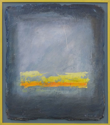 Nauders 2 / Acryl auf Gips, Filz / 41 x 46cm / 2015