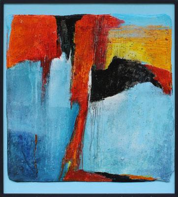 Knie / 66 x 76 cm / Acryl auf Gips/Filz / 2020