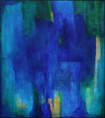 Blaues Wunder / 160 x 180 cm / Mischtechnik / 2020