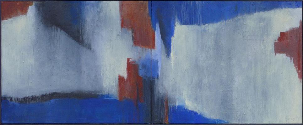Ohne Titel / 2 ( 90 x 110 ) cm / Mischtechnik / 2019