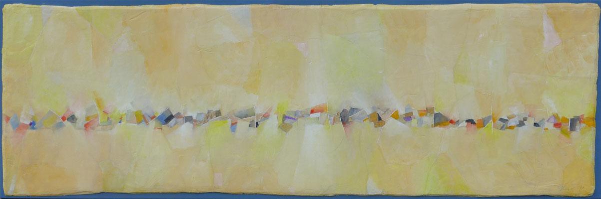 Sitting Stones / Oel auf Gips/Filz / 50 x 150cm / 2017