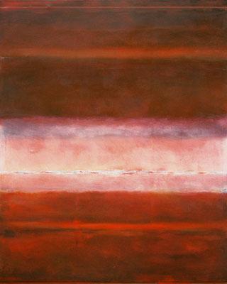 Rotes Rascheln / Mischtechnik auf Textil / 120 x 150cm / 2015