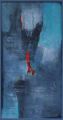 fallendes Rot / 61 x 117 cm /  Acryl auf Kunstharzplatte / 2020
