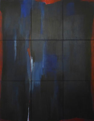 Blauer Seufzer / 210 x 270cm / Acryl auf Textil / 2019