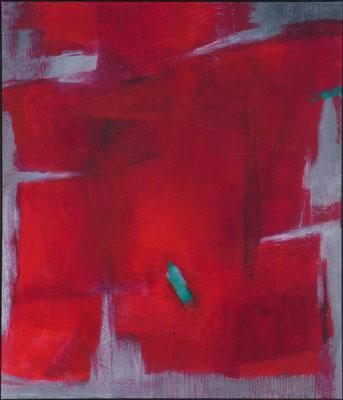 Grün im Rot / Mischtechnik / 120 x 140cm / 2018